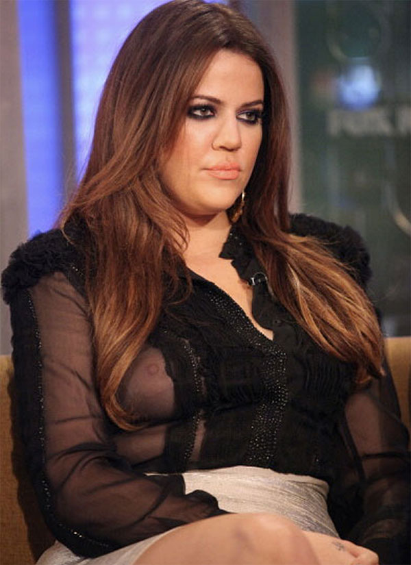 Khloe Kardashian Nip Slip Wardrobe Malfunction on Live TV (VIDEO)