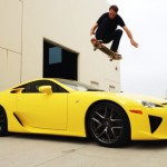 Tony Hawk Jumps Over a $400K Lexus LFA With His Skateboad