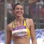 Michelle jenneke wet warmup