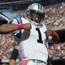 Cam Newton Chest Thump - Week 12 NFL Picks Predictions and Locks – Against the Spread