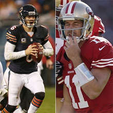 Jay Cutler and Alex Smith - Watch week 11 NFL Monday Night Football: Free Live Online Streaming Options