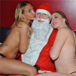 Santa Claus Visits Rick's Cabaret NYC for a Pre-Christmas Lap Dance (PICS)