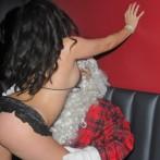 Santa Claus getting a lap Dance 5