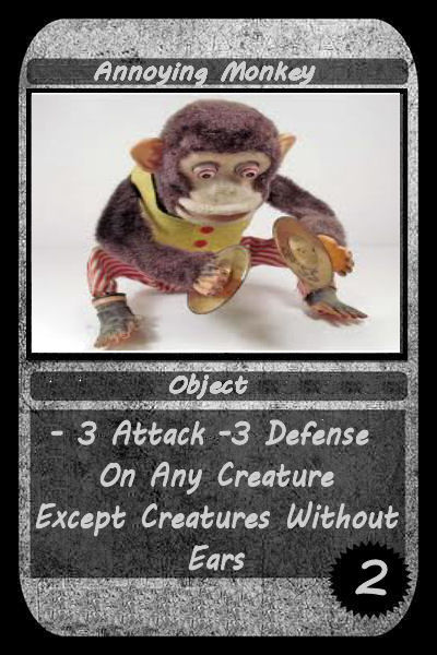 annoying monkey card