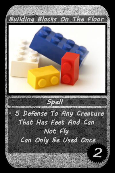 building blocks on the floor card
