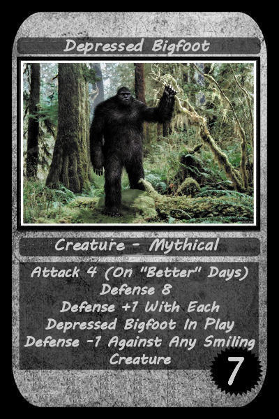 depressed bigfoot card