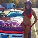 Rick's Cabaret NYC Girl Brielle Poses with Ronnie the Limo Driver Pace Car (PICS)
