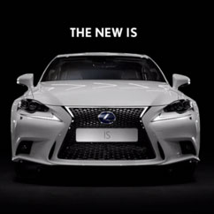 2014 lexus IS - front view - commercial spot