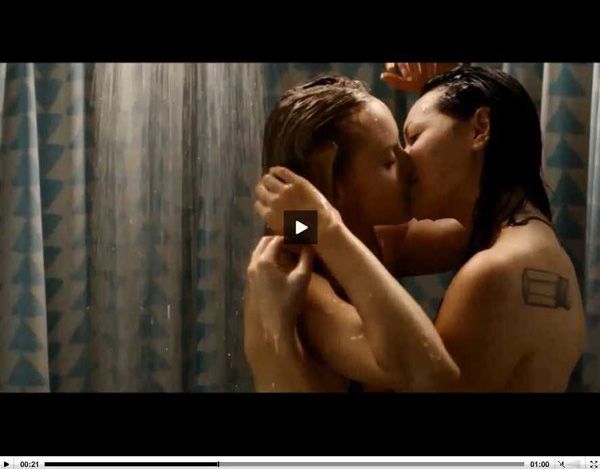 Laura Prepon Topless Shower Scene