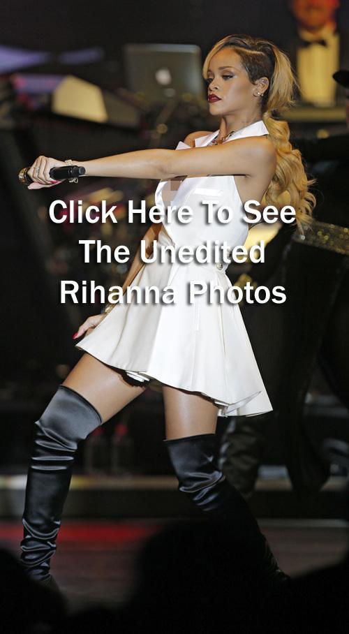 Rihanna Shows Off Her Barbell Pierced Nipples Redi