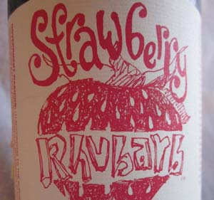 New Glarus - Strawberry Rhubarb Post
