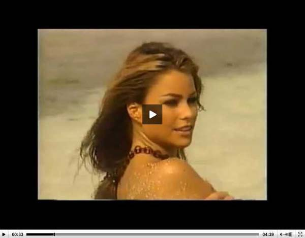 Sofia Vergara Topless Thong Bikini Video
