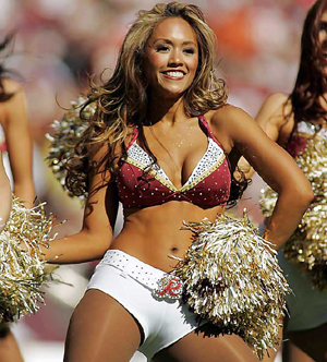 nipple slips cheerleader Nfl