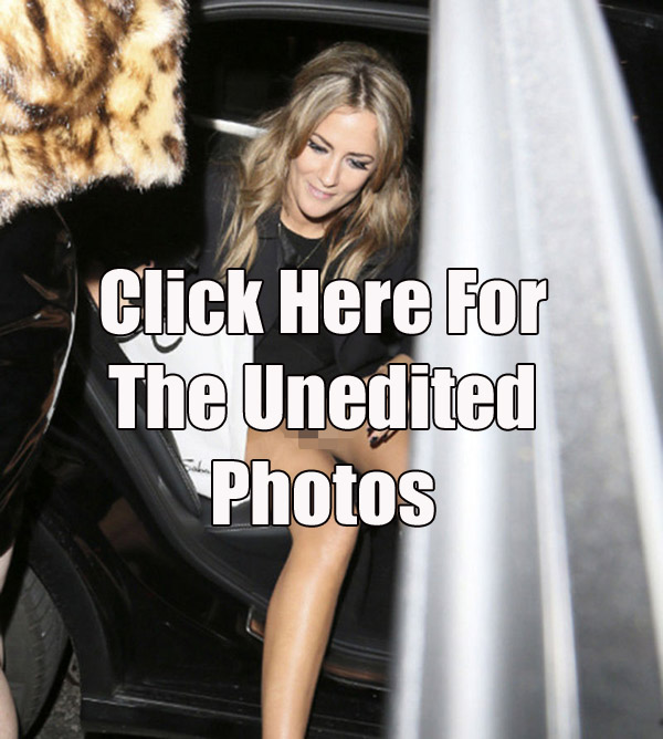 Caroline Flack Gives the Paparazzi a Commando Upskirt Shot copy