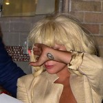 Lady Gaga Pops Out a Boob Picking Up a Pizza (PICS)