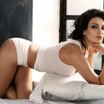 Bleona Qereti Caught Topless Sunbathing