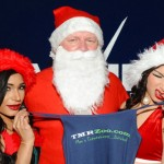 Baseball Great Lenny Dykstra Played Santa Claus at Roof Top Party at Vivid Cabaret New York Gentlemen's Club