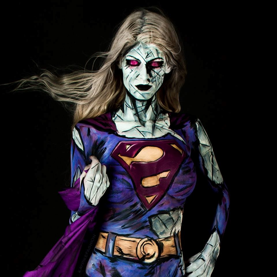 Pop Up Paint Booth >> The Body Paint Cosplay Work of Model Kay Pike - TMR Zoo