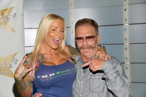 Ronnie the Limo Driver with porn star Britney Shannon at Rick's Cabaret NY