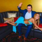 Comedian Allan Fuks spanks Rick's Cabaret NY Girl Cynthia